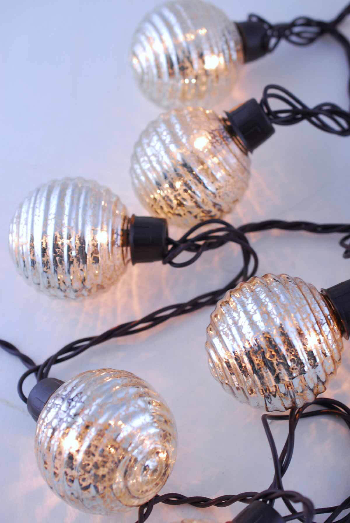 Globe Lights Mercury Glass String Light End To End 6ft