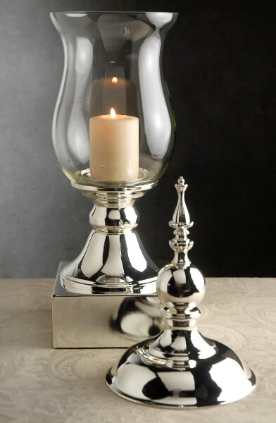 Tall Glass Amp Silver Apothecary Jar 22