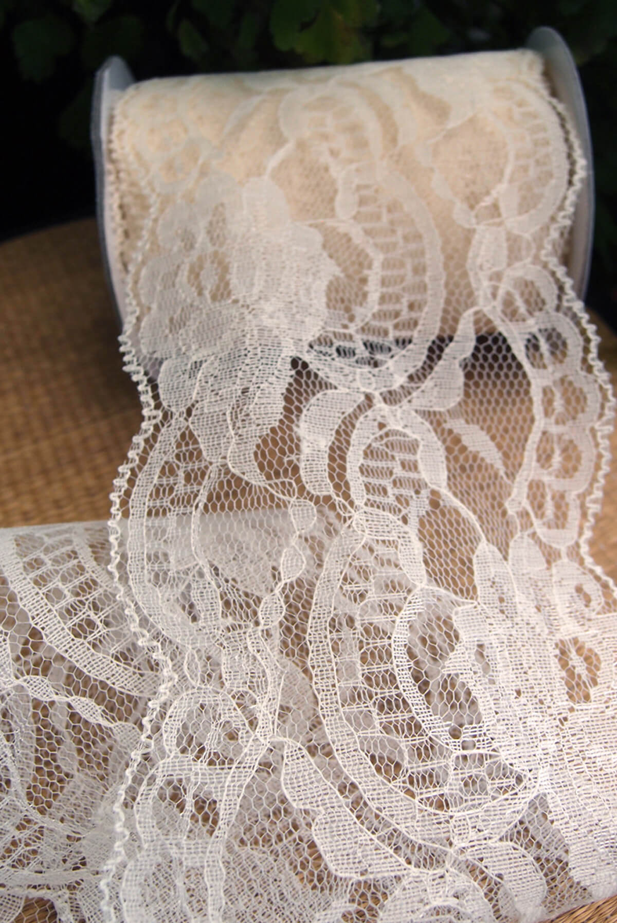 Ivory Lace Ribbon 4 Wide X 10 Yards