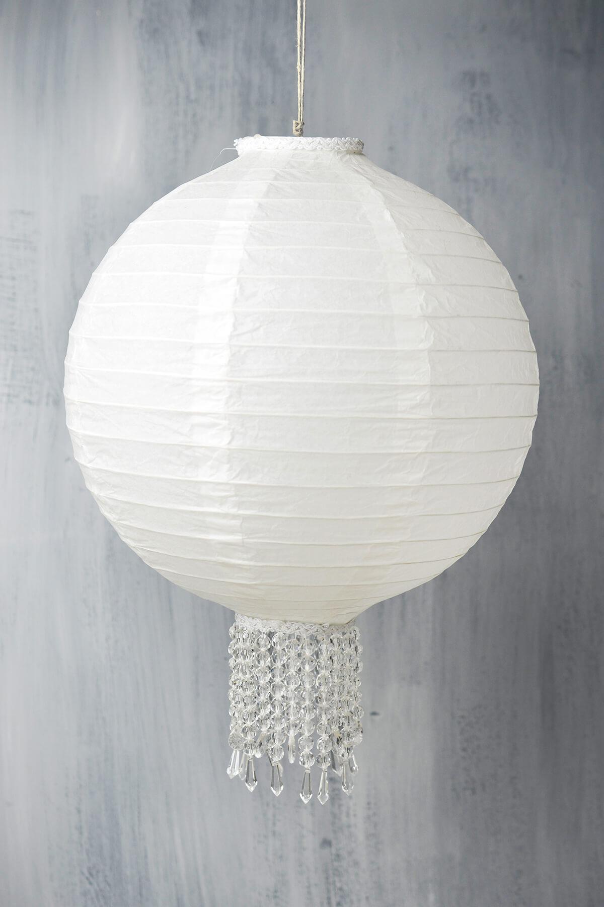 Crystal 12 White Wedding Paper Lanterns
