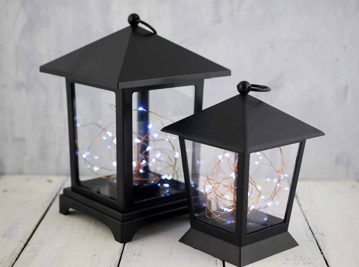 Everlasting Glow Lantern With LED Fairy Lights