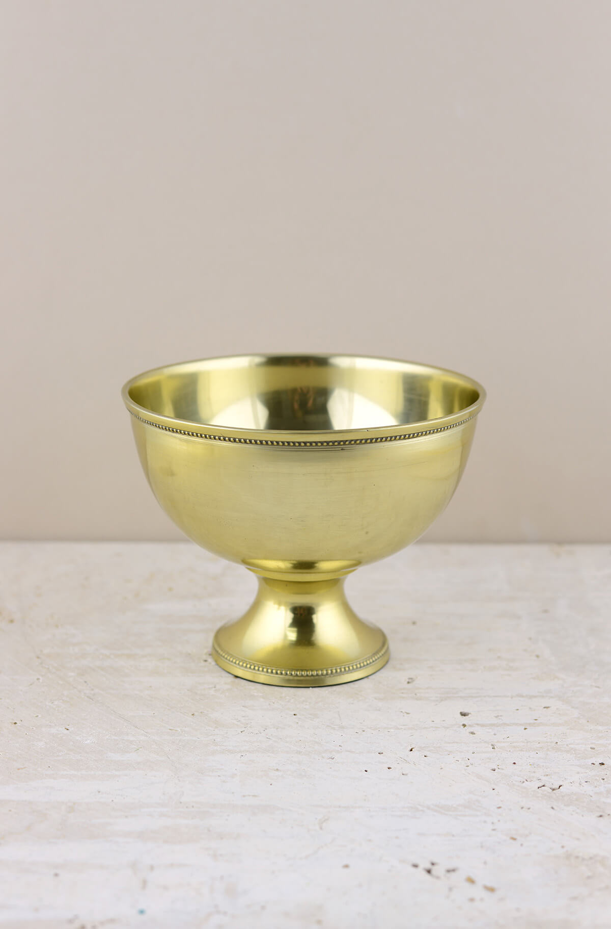 Metal Compote Gold 7x5 25in