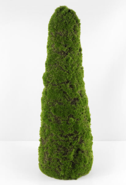 Large Moss Covered Topiary Cone Tree 20in
