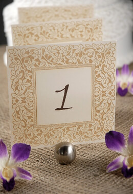 Clara Laser Engraved Table Numbers 1 10 Ivory Amp Gold 55in