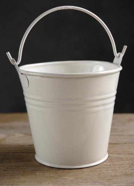 Metal Bucket White
