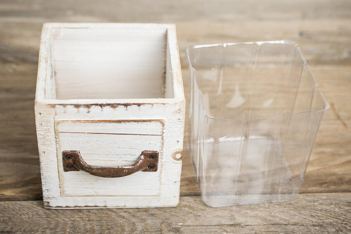 Wood Drawer Planter Boxes 45 Square White