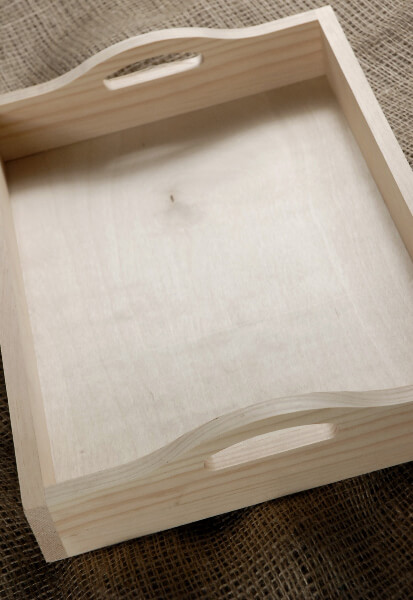 Unfinished Wood Serving Tray Pine 15x11