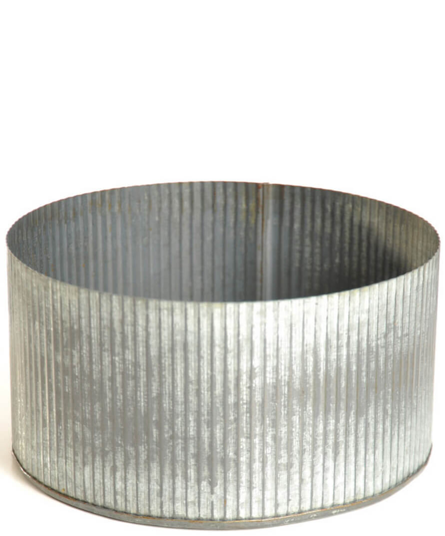 Corrugated Zinc Pot 75x 4 Norah Bowl