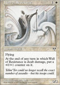 MTG Card: Wall of Resistance