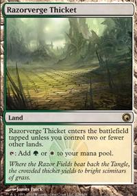 MTG Card: Razorverge Thicket