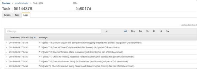 Figure 8: ECS Task Logs