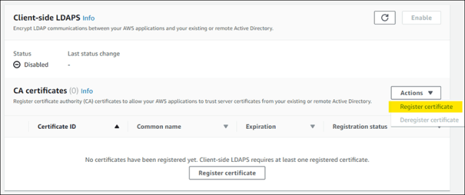 "Figure 5: Select ""Register certificate"""