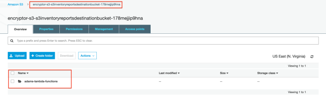 Figure 6: Confirm delivery of reports to the S3 reports destination bucket