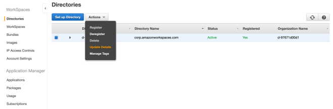 Figure 1: Updating details of your directory