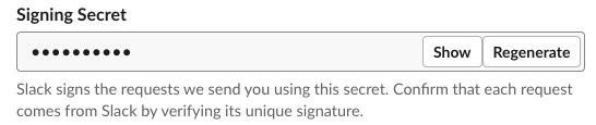 Figure 3: Signing secret