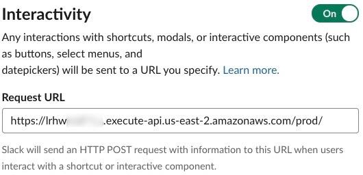 Figure 7: Slack app interactivity