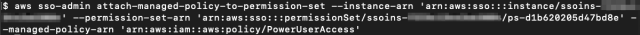 Figure 10: Attaching AWS managed plan PowerUserAccess to the PowerUserAccess permission fixed