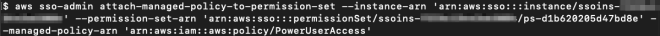 Figure 10: Attaching AWS managed policy PowerUserAccess to the PowerUserAccess permission set