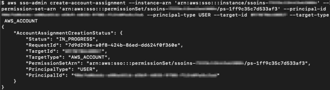 Figure 13: Assigning the EC2-S3-FullAccess permission set to Alice on the ExampleOrgDev account