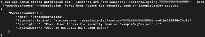 Figure 6: Creating the permission set PowerUserAccess