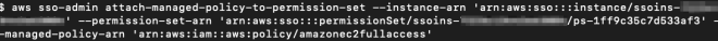 Figure 7: Attaching the AWS managed policy amazonec2fullaccess to the EC2-S3-FullAccess permission set