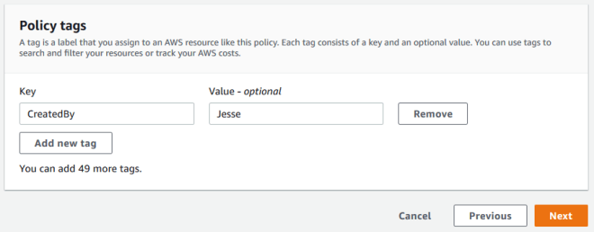 Figure 8: Firewall Manager policy tags