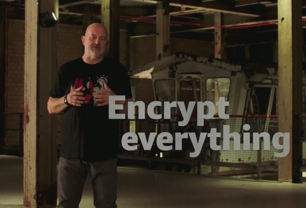 Figure 4: Amazon Chief Technology Officer Werner Vogels wants customers to encrypt everything