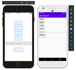 Amplify iOS & Android Demo