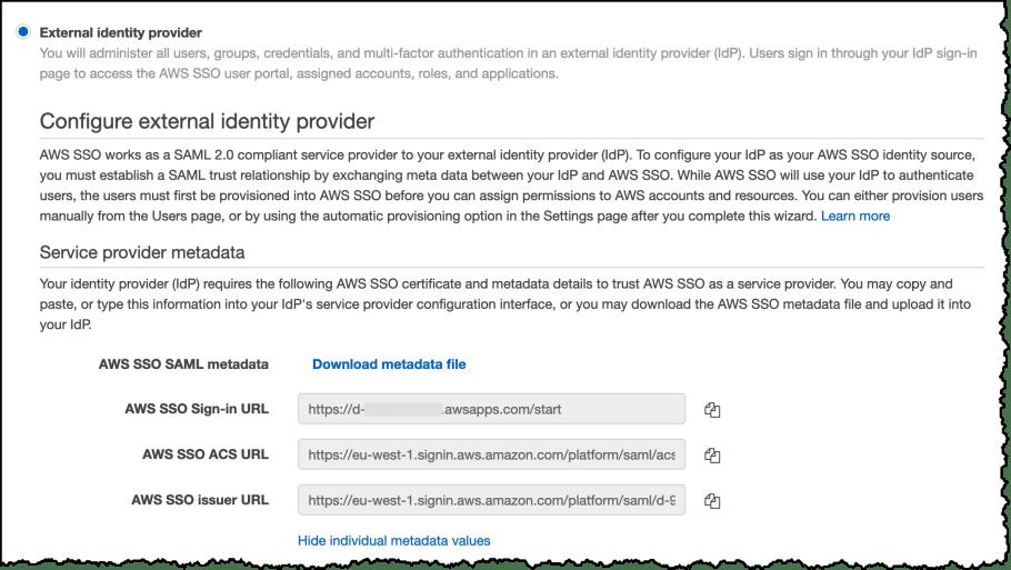 AWS SSO Save URLs