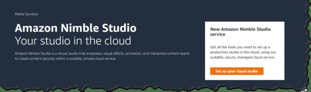 screenshot of the intro of nimble studio