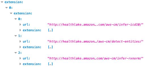 HealthLake entities