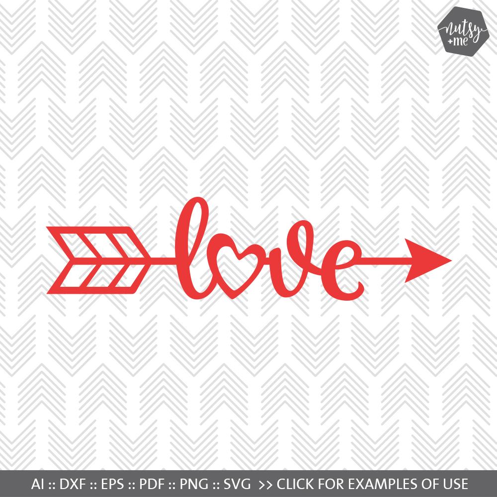 Download Love Arrow - SVG, AI, EPS, PDF, DXF & P   Design Bundles