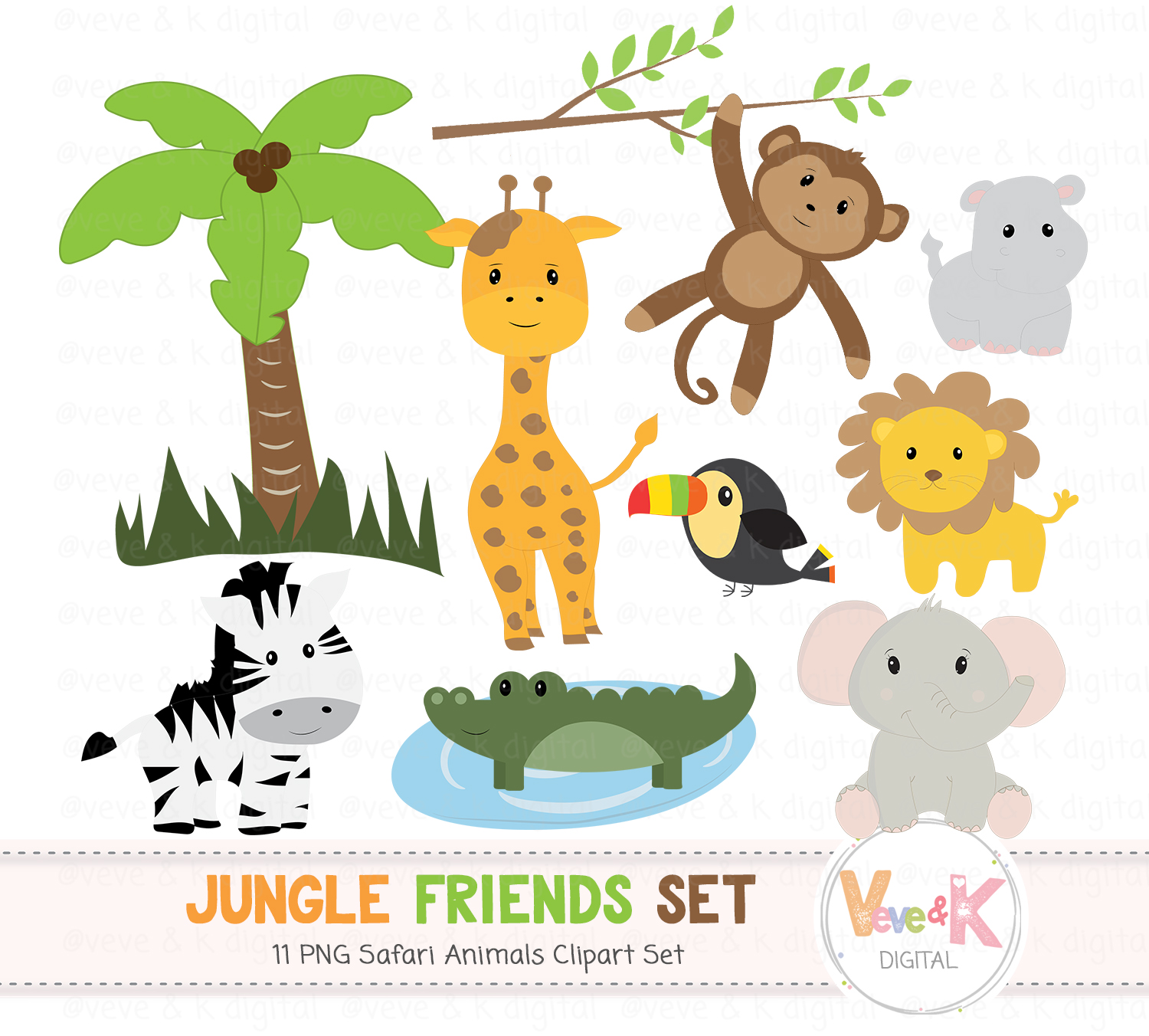 Safari Jungle Animals Clip Art African