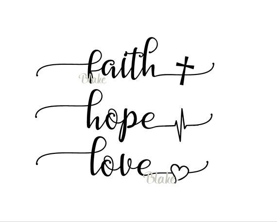 Download Faith Hope Love svg CUT file for silhou   Design Bundles