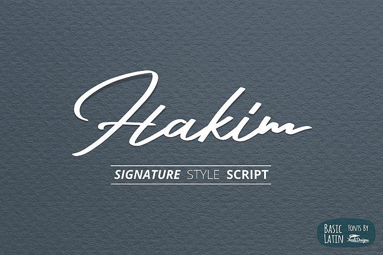 Free Hakim Signature Font Fontscripts