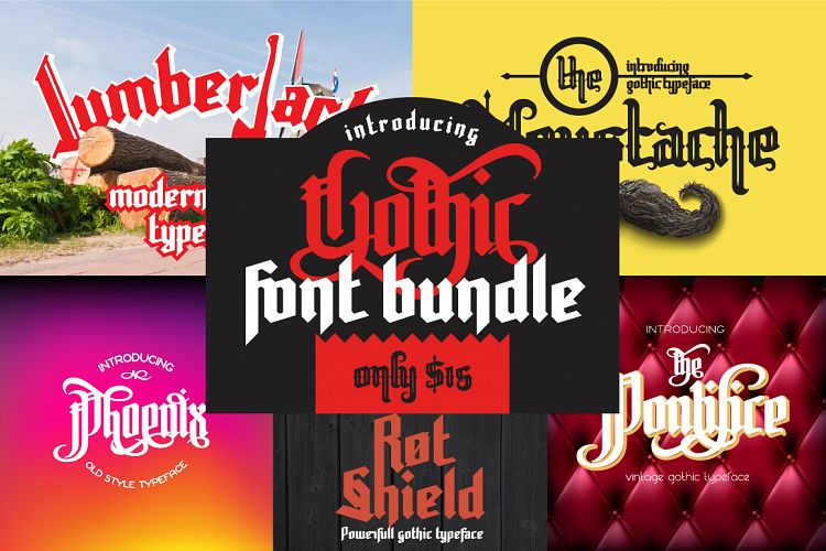 Free Gothic font bundle Fontscripts