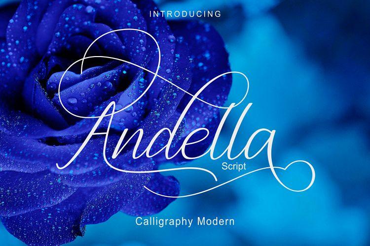 Free Andella Script|Off 30% Fontscripts