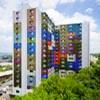 North Bergen, NJ, retrofit de alta potência da Housing Authority brilha com cores Spectra da painéis de acm