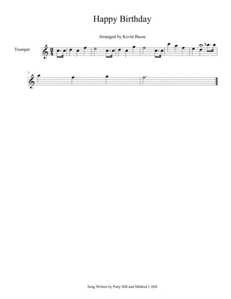 Happy Birthday Easy Key Of C Trumpet By Digital Sheet Music For Individual Part Sheet Music Single Solo Part Download Print S0 274877 Sheet Music Plus