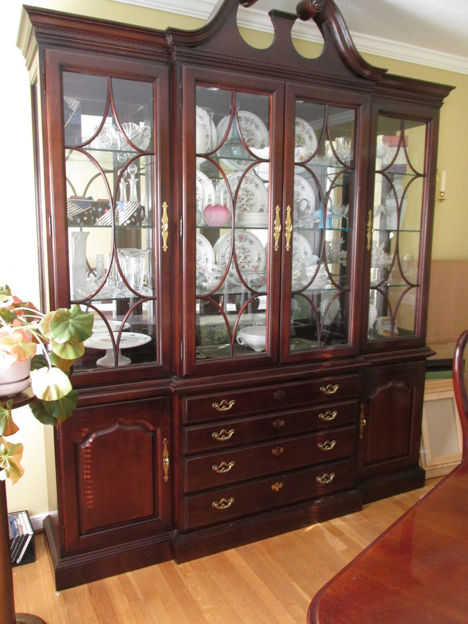 Thomasville Collectors Cherry Breakfront And Buffet My Antique Furniture Collection