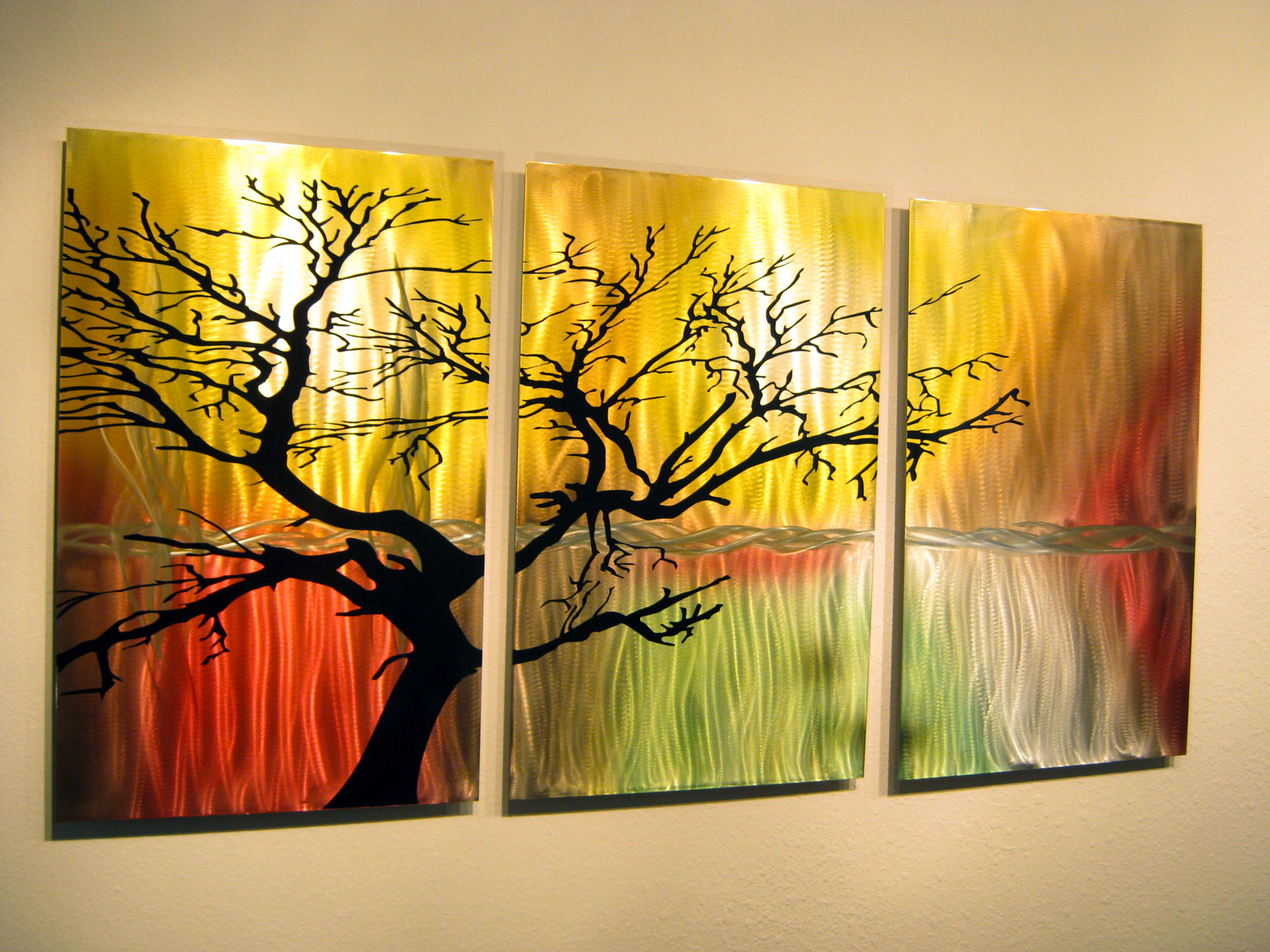 Tree In Silhouette- Metal Wall Art Contemporary Modern