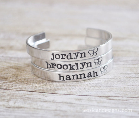 Personalized Girl's Bracelet- Hand Stamped With the name of your choice