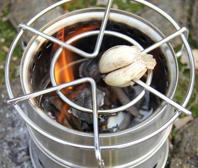 Portable Camping Stainless Steel Outdoor Alcohol Wood Rocket Stove Thumbnail 4