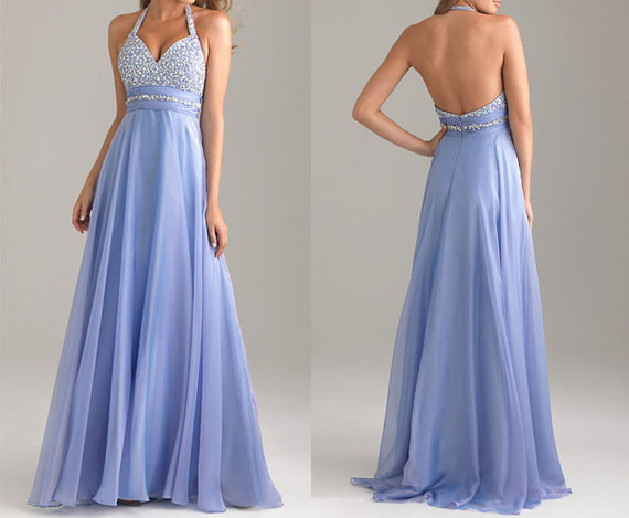Lilac Prom Dress,long Prom Dress,halter Prom Dress,cheap