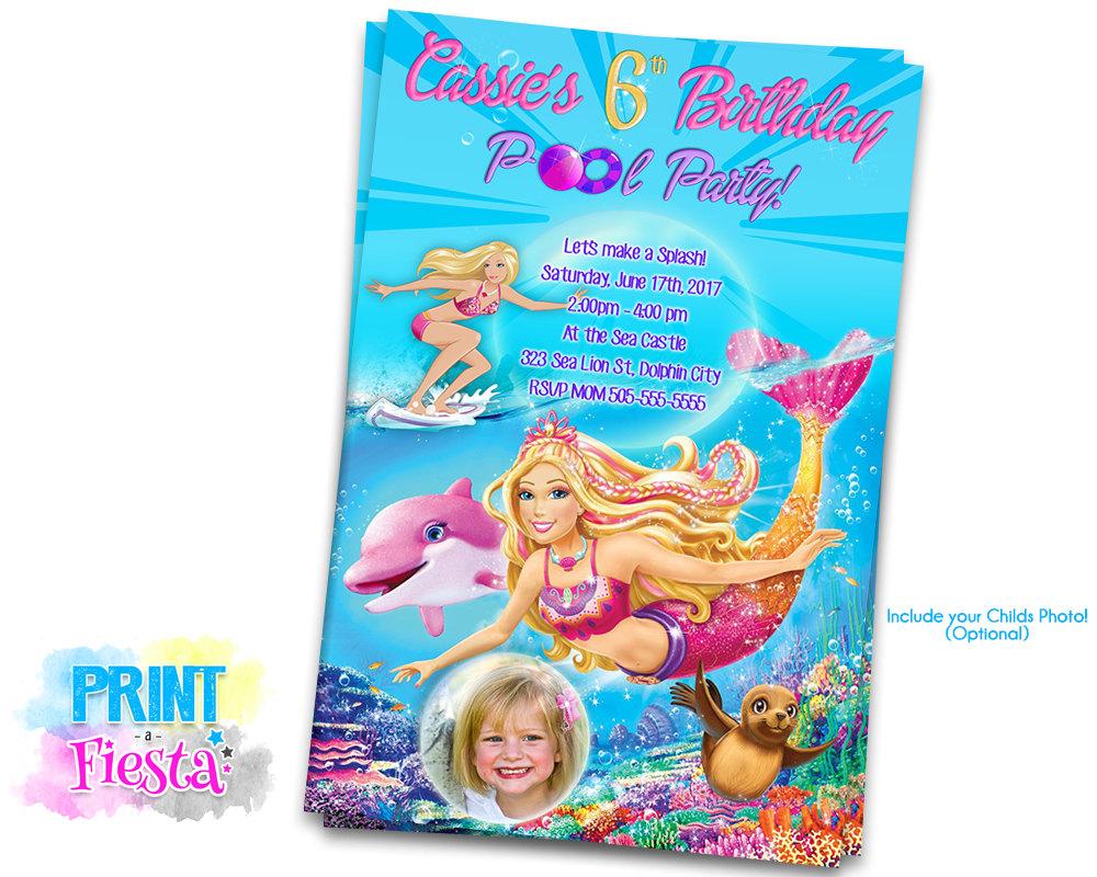 barbie mermaid custom digital