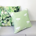 Custom Your Color White Dragonflies Pale Green Decorative Pillow Cover Light Green Accents Pillow 16inch Cushion Cover Ownwonderland Online Store Powered By Storenvy