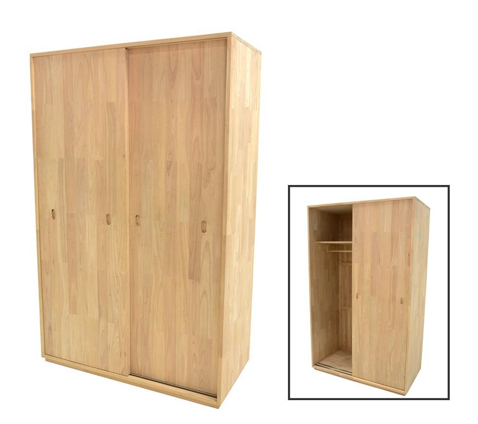 armoire penderie hevea 2 portes coulissantes 120x60x195cm baltic