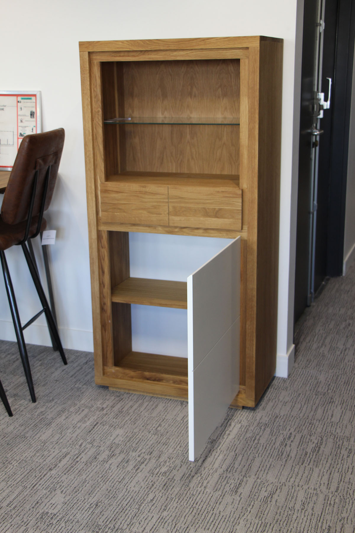 bibliotheque colonne bois laque blanche malmoe