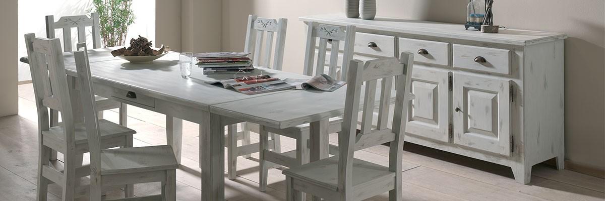 buffet bas pin blanc ceruse 4 portes 4 tiroirs 213x50x90cm cm rivage