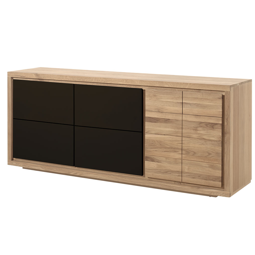 buffet moderne bois laque noire 3 portes malmoe 2